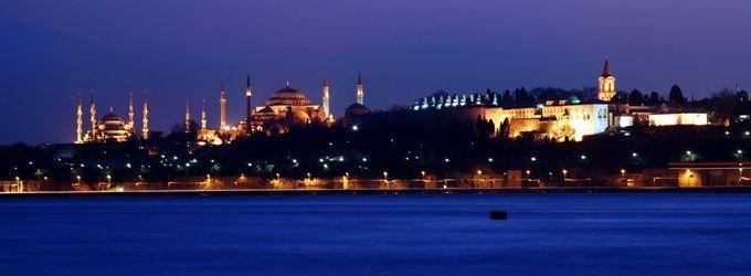 historical peninsula at night istanbul